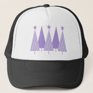 Christmas Trees - Periwinkle Ribbon Trucker Hat
