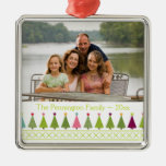 Christmas trees personalized photo ornament