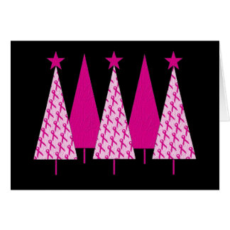 Christmas Trees - Pink Ribbon Cards