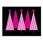 Christmas Trees - Pink Ribbon Postcards
