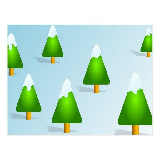 Christmas Trees Postcards