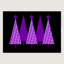 Christmas Trees - Purple Ribbon Crohns & Colitis Card