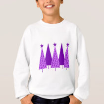 Christmas Trees - Purple Ribbon Crohns & Colitis Sweatshirt