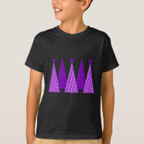 Christmas Trees - Purple Ribbon Crohns & Colitis T-Shirt