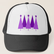 Christmas Trees - Purple Ribbon Crohns & Colitis Trucker Hat