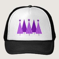 Christmas Trees - Purple Ribbon Crohns & Colitis Trucker Hat