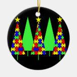 Christmas Trees - Puzzle Christmas Ornament