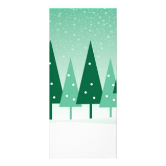 christmas trees personalized rack card