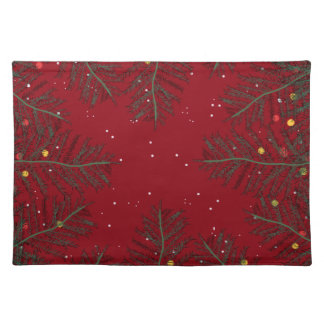 CHRISTMAS TREES red and green Placemat