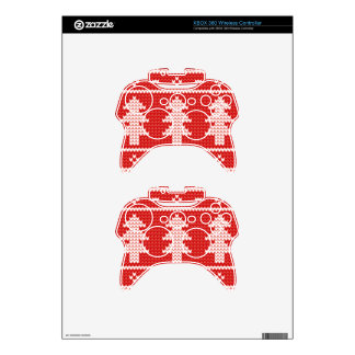 Christmas Trees Red Jumper Knit Pattern Xbox 360 Controller Skins
