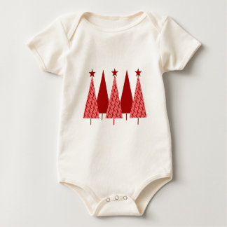 Christmas Trees - Red Ribbon AIDS & HIV Baby Bodysuit