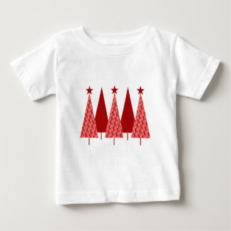 Christmas Trees - Red Ribbon AIDS & HIV Baby T-Shirt