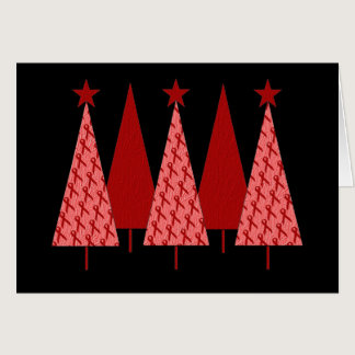 Christmas Trees - Red Ribbon AIDS & HIV Card