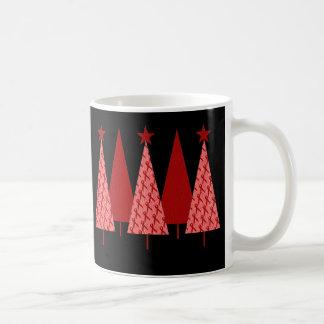 Christmas Trees - Red Ribbon AIDS & HIV Coffee Mug