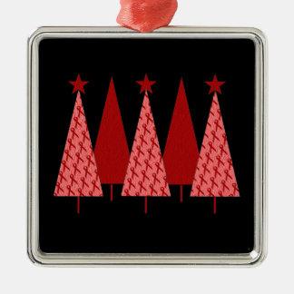 Christmas Trees - Red Ribbon AIDS HIV Christmas Ornament