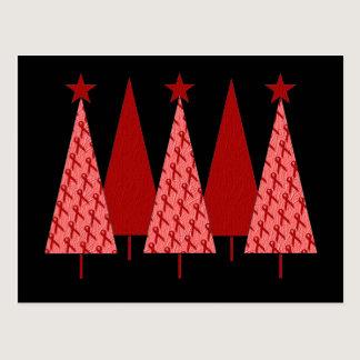 Christmas Trees - Red Ribbon AIDS & HIV Postcard