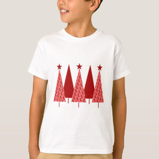 Christmas Trees - Red Ribbon AIDS & HIV T-Shirt