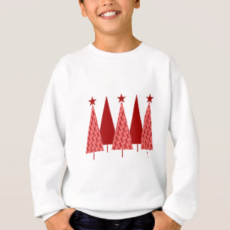 Christmas Trees - Red Ribbon Heart & Stroke Sweatshirt