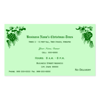 Christmas Trees Sales Double-Sided Standard Business Cards (Pack Of 100)