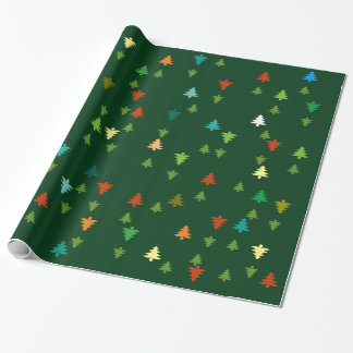 Christmas trees season pattern gift wrapping paper