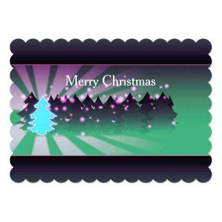 Christmas Trees Shades of Green Flat Card