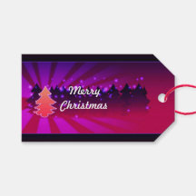 Christmas Trees Shades of Green Gift Tags Pack Of Gift Tags