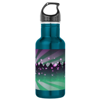 Christmas Trees Shades of Green Water Bottle