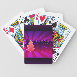 Christmas Trees Shades of Purple Bicycle Playing Cards