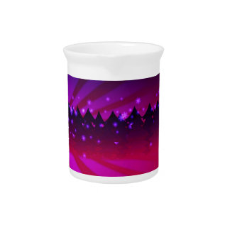 Christmas Trees Shades of Purple Drink Pitcher