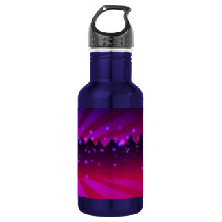 Christmas Trees Shades of Purple Water Bottle