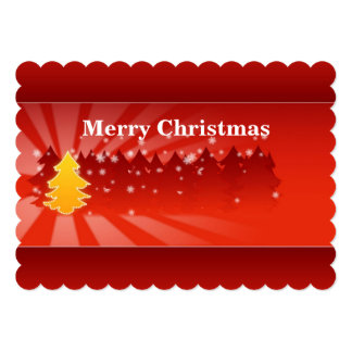 Christmas Trees Shades of Red Flat Card