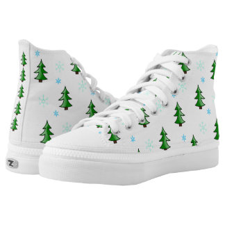 Christmas Trees & Snowflakes HighTop Holiday Shoes