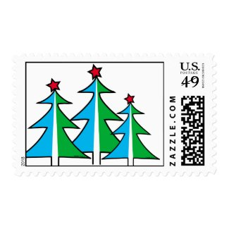 Christmas Trees Stamps