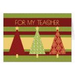 Christmas Trees Teacher Happy Holidays Card