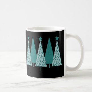 Christmas Trees - Teal Ribbon Cervical Cancer Coffee Mug
