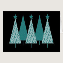 Christmas Trees - Teal Ribbon Uterine Cancer Card