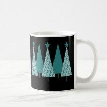 Christmas Trees - Teal Ribbon Uterine Cancer Coffee Mug