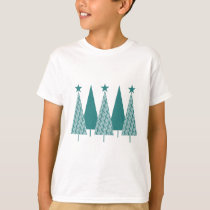Christmas Trees - Teal Ribbon Uterine Cancer T-Shirt