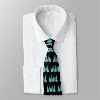 Christmas Trees - Teal Ribbon Uterine Cancer Tie