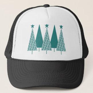 Christmas Trees - Teal Ribbon Uterine Cancer Trucker Hat