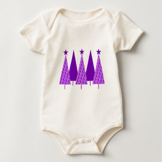 Christmas Trees - Violet Ribbon Baby Bodysuit