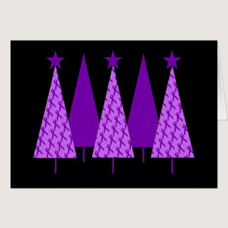 Christmas Trees - Violet Ribbon Card