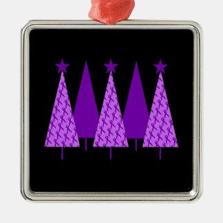 Christmas Trees - Violet Ribbon Christmas Ornaments