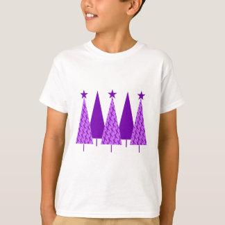 Christmas Trees - Violet Ribbon T-Shirt