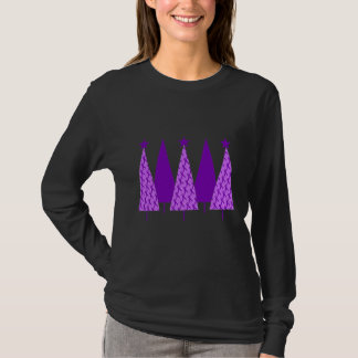 Christmas Trees - Violet Ribbon T-Shirt