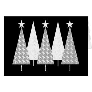 Christmas Trees - White Ribbon Card