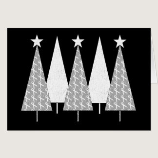 Christmas Trees - White Ribbon Card