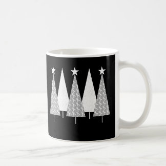 Christmas Trees - White Ribbon Coffee Mug