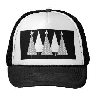 Christmas Trees - White Ribbon Mesh Hats