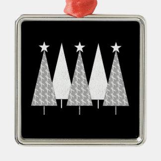 Christmas Trees - White Ribbon Ornaments